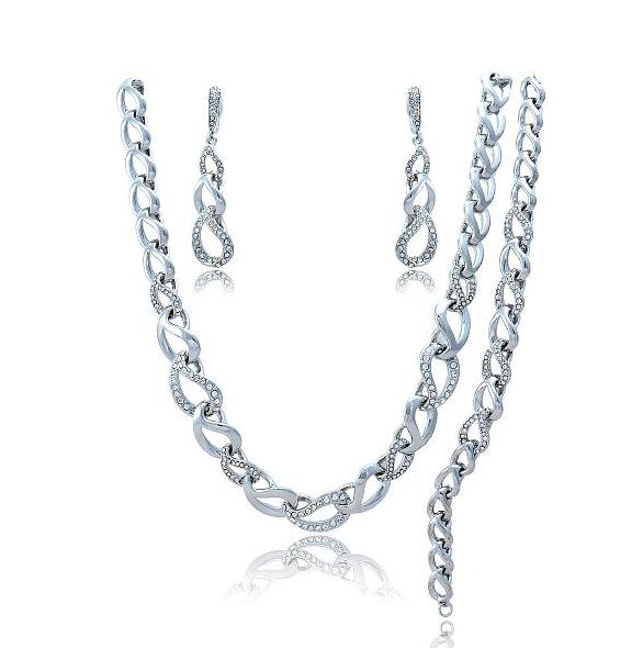 ست گردنبند و گوشواره و دستبندSE204